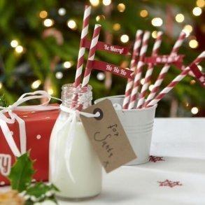 Christmas Cheer Festive Paper Straws