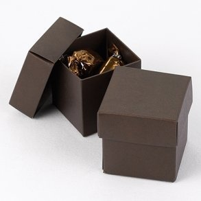 Brown Chocolate Wedding Favour Bomboniere Boxes