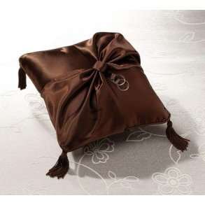 Chocolate Brown Wedding Ring Pillow