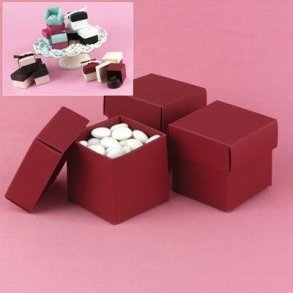 Red Wedding Favour Bomboniere Boxes
