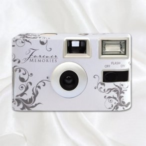 Classic Silver Disposable Wedding Camera