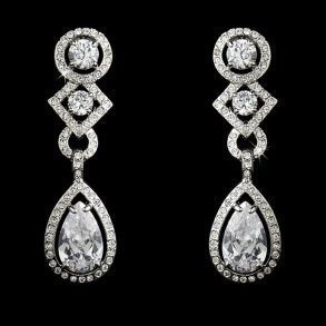 Clip-on Cubic Zirconia Earrings