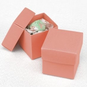 Two Piece Coral Bomboniere Boxes
