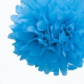 Cornflower Blue Tissue Pom Poms - Pack of 4
