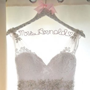 Sparkling Crystal & Pearl Encrusted Wedding Coat Hanger