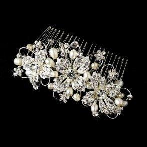 Dainty Floral Bridal Comb