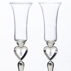 Dangling Jewel Toasting Glasses