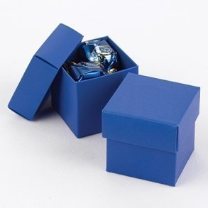 Royal Blue Wedding Favour Bomboniere Boxes