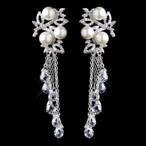 Dazzling Pearl & Crystal Dangle Earrings