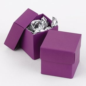 Grapevine Purple Wedding Favour Bomboniere Boxes