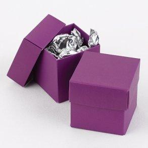 Grapevine Purple Wedding Favour Bomboniere Boxes