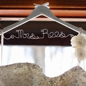 Gorgeous Rhinestone Covered Bridal Coat Hanger
