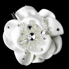Elegant Fabric Flower Bridal Hair Comb