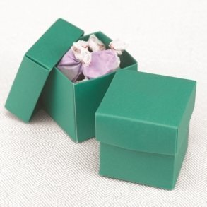 Two Piece Emerald Favour Boxes