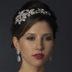 Encrusted Rhinestone Floral Bridal Headband
