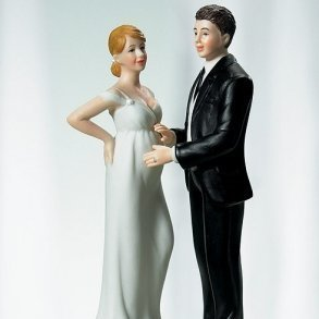 Expecting Bridal Couple Figurine