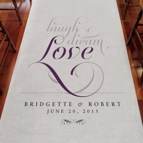 Personalised Expressions Wedding Aisle Runner