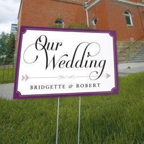 Personalised Expressions Wedding Directional Sign