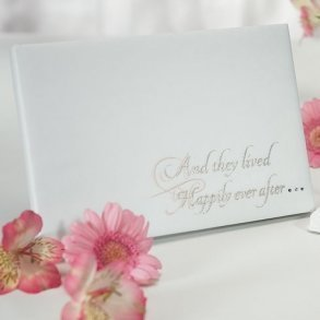 Fairytale Dreams White Wedding Guest Book