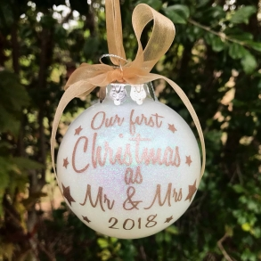 First Christmas as Mr & Mrs Christmas Bauble