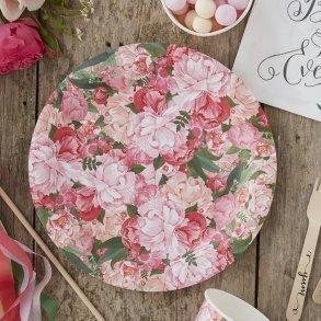 Floral Boho Paper Party Plates