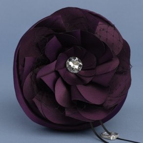 Floral Fantasy Purple Petite Ring Pillow