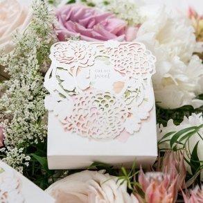 Floral Garden Wedding Favour Boxes