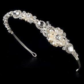 Silver Freshwater Pearl Tiara