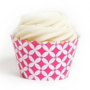 Fuchsia Diamonds Cupcake Wrappers - Pack of 12