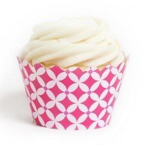 Fuchsia Diamonds Cupcake Wrappers - Pack of 12