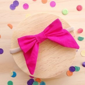 Fuchsia Pink Bow Girls Hair Accessory