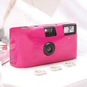 Fuchsia Single Use Disposable Wedding Camera