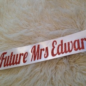 Future Mrs Personalised Hens Night Sash Style 2