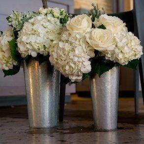 Galvanized Flower Market Bucket with Handle