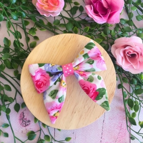 Garden Tea Party Floral Girls Hair Clip or Headband