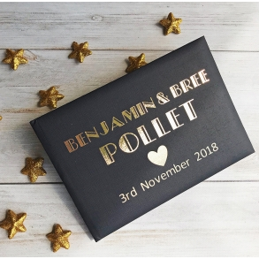 Great Gatsby Style Personalised Wedding Guest Book
