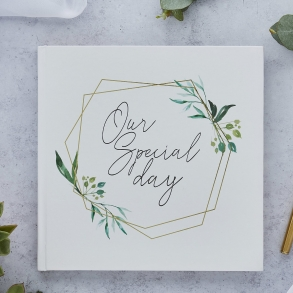 Botanical Gold Foil Wedding Guest Book