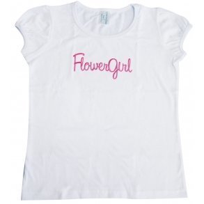 Girls Puff Sleeve T-shirt With Embroidery