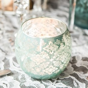 Glass Globe With Lace Pattern - 4 Colours