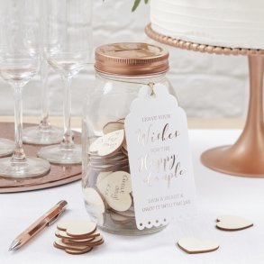 Glass Wishing Jar Guest Book Alternative