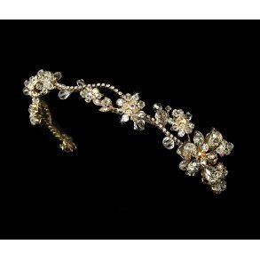 Gold AB Floral Headband