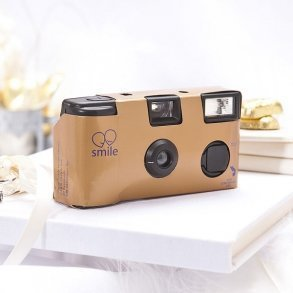 Gold Single Use Disposable Wedding Camera