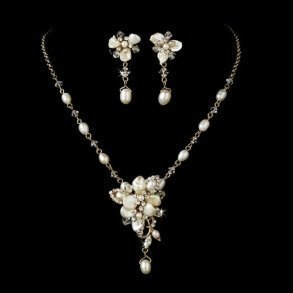 Gold Freshwater Pearl Bridal Set
