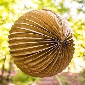 Gold Watermelon Round Paper Lantern