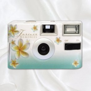 Green Frangipani Disposable Wedding Camera