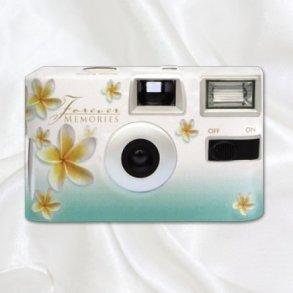 Green Frangipani Disposable Wedding Camera