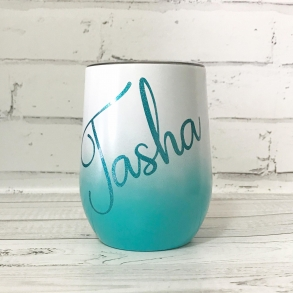 Green Ombre Personalised Tumbler - 12oz