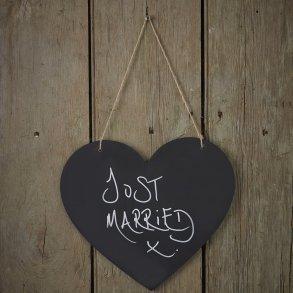 Wooden Chalkboard Hanging Heart