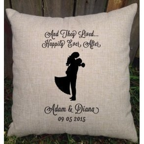 Happily Ever After Personalised Wedding Cushion