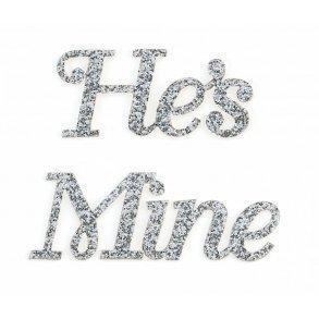 He's Mine Silver Glitter Shoe Sticker